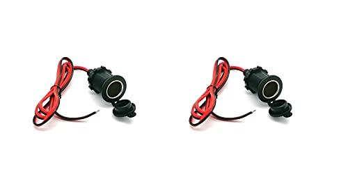 12 – 24 V enchufe de coche, cable de 1 m, alargador para encendedor de cigarrillos, 2 unidades