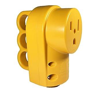 Suplevel NEMA 6-50R Receptacle 50 Amp 3-Prong 250 Volt Welder Replacement Female Plug Heavy Duty ETL Listed
