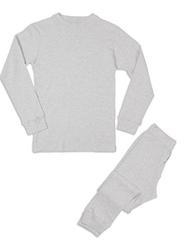 Premium Men's Long John Thermal Underwear Set White XL