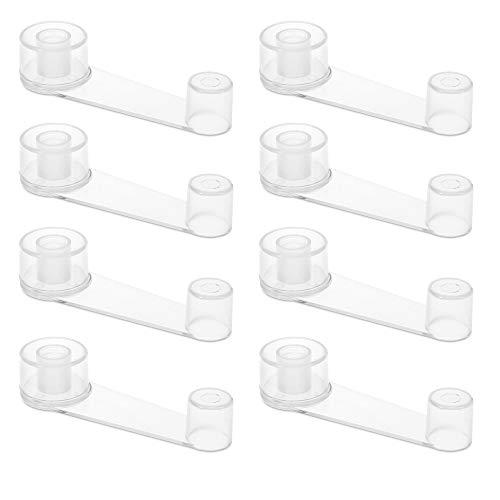 Navaris Set 8x Fermo Fermaporta Girevole - Blocca Porta Adesivo per Pavimento - Ferma Porte in Plastica e Metallo - Salvamuro Antisbattimento Maniglia