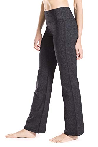 Yogipace 27'/28'/29'/30'/31'/32'/33'/35'/37' Inseam,Petite/Regular/Tall, Women's Bootcut Yoga Pants Long Workout Pants, 27', Charcoal, Size XL