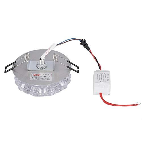 Lámpara empotrable de Techo LED de 3W, lámpara de Techo LED de Cristal Transparente, lámpara empotrada de Techo LED para Sala(Concealed 3W IPL)