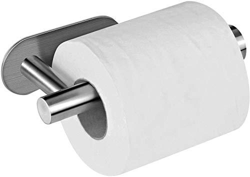 hsj Soporte de papel higiénico 304 de acero inoxidable para toallas de papel sin clavos, soporte para papel higiénico, soporte para toallas de papel sin marcas, duradero (color: plata)