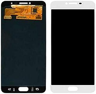 قطعة غيار شاشة Lcd من ريفيكسيت بيضاء متوافقة مع سامسونج C7 برو
