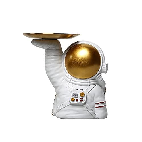 KLFD Decoración De Bandeja De Astronauta Nórdico Caja De Almacenamiento De Cuenco De Llaves Bandeja De Joyería Bandeja De Almacenamiento De Dulces De Escritorio Estantes