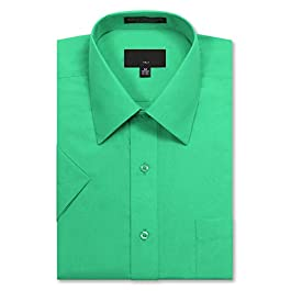Allsense Men's Regular Fit Short-Sleeve Dress Shirts