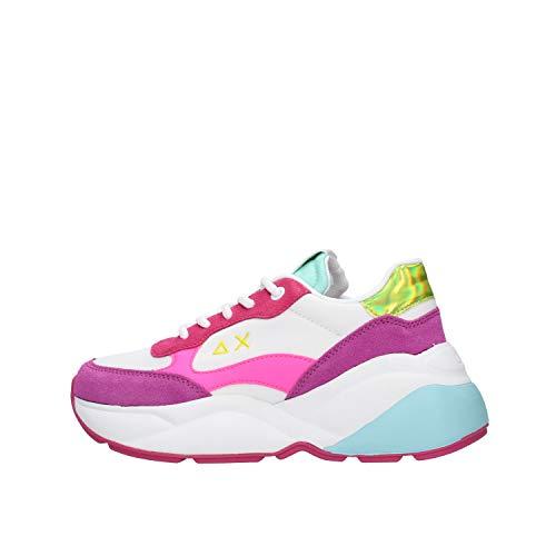 SUN 68 Dani Nylon Sneaker Bianca da Uomo Z30221-01