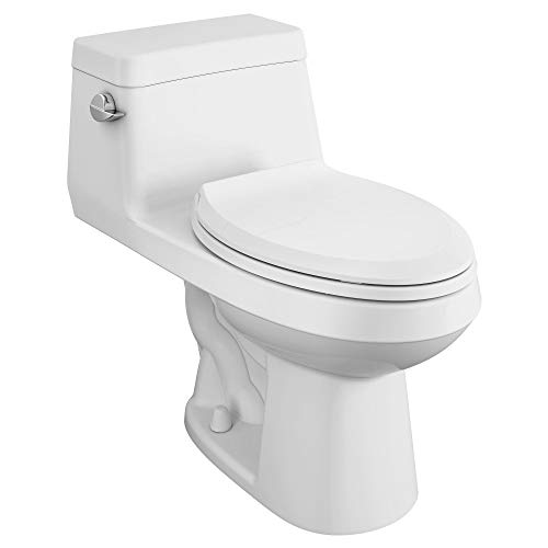 heavy duty American standard 2961A104SC.020 One-piece toilet with long colony, right height, with seat, white
