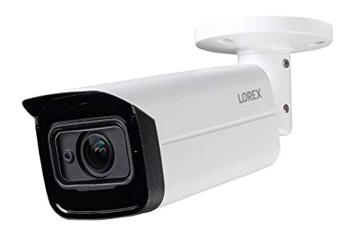 Lorex C861CF Indoor/Outdoor 4K Ultra HD MPX Analog Motorized Varifocal Security Bullet Camera with Color Night Vision, 4x Optical Zoom, 150ft Night Vision,Supports HD-CVI, HD-TVI, AHD, and CVBS, White