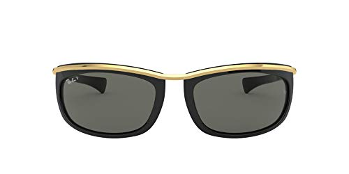 Ray-Ban Herren Olympian I Rb2319-901/58 Sonnenbrille, Negro/ORO, 62