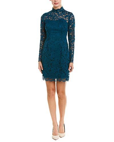 Betsey Johnson Women's Lace Sheath Dress, Teal, 12
