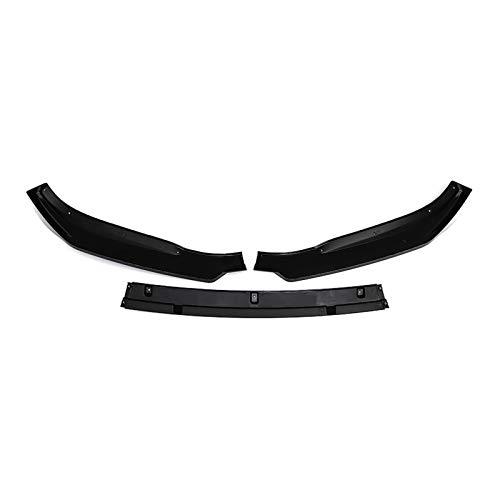 YAN Firm 3 UNIDS Glossy Coche Black Coche Frente Parachoques Splitter Cubierta de Labio Recorte Frente Difusor de Parachoques Funda de Labio Ajuste para Mazda 3 Axela 2014 2018