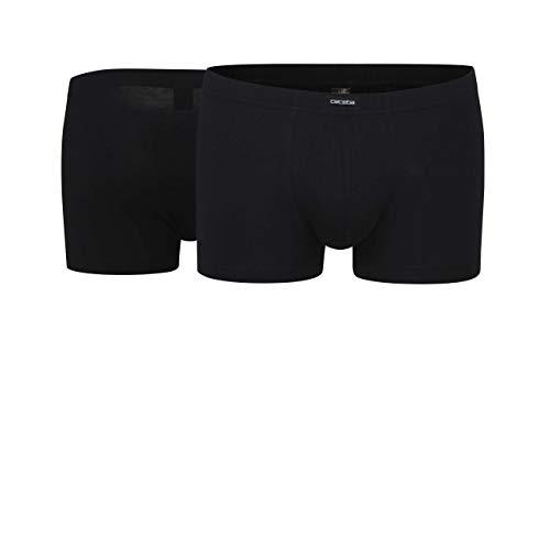 Ceceba Herren Short-Pants, Elastan, Baumwolle, Single Jersey, schwarz, Uni, 2er Pack 6