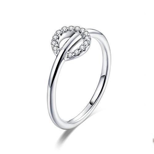 100% echt 925 sterling zilveren ringen vrouwen trouwen romantische verlovingsjuwelen Zevenkamp, 7