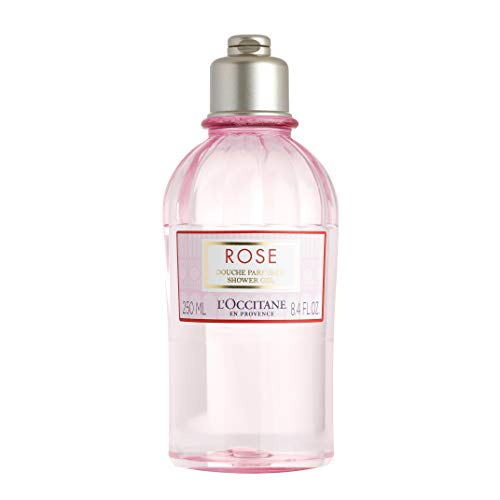 L'Occitane Gentle Rose Shower Gel Enriched with Rosa Centifolia Floral Water, 8.4 Fl Oz