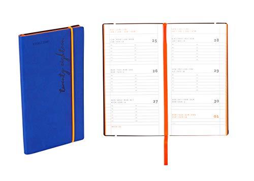 Agenda settimanale 2020 Flexy-Diary, 8 X 14,8 Cm colore blue
