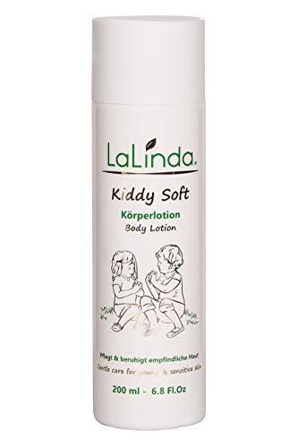 LaLinda - Naturkosmetik Bodylotion für Kinder und Babys Leichte Creme zur Pflege von trockener Haut für sehr empfindliche Haut geeignet 200ml