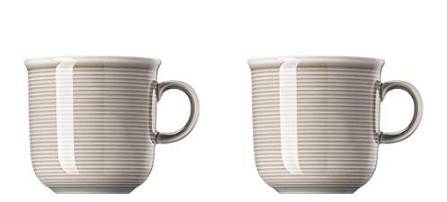 Thomas Trend Colours / Farben - Becher mit Henkel - 2er-Set - Henkelbecher Mugge Humpen Haferl Tasse Kaffeebecher (Moon Grey (Mond-Grau), 2 Stück)