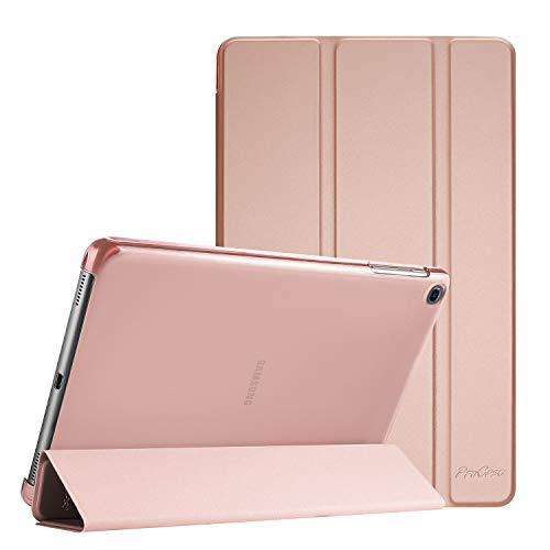 ProCase Custodia per Galaxy Tab A 10.1 2019(SM-T510 T515 T517), Cover Ultra Sottile e Leggero con Retro Semi-Trasparente Copertura per Galaxy Tab A 10.1 -Oro Rosa