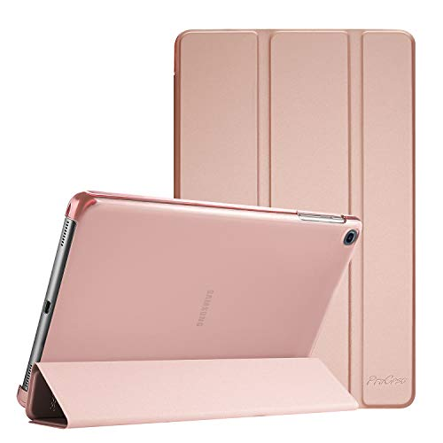 ProCase for Galaxy Tab A 10.1 Case 2019 (SM-T510 / SM-T515 / SM-T517), Ultra Slim Light Smart Folio Cover Stand Case, with Translucent Frosted Back -Rosegold
