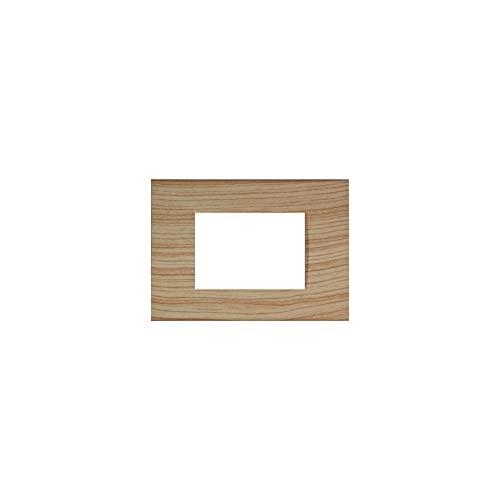 LineteckLED -LNT8003 17- Serie Completa di Placche per Interruttori Prese- Placca 3 Posti Abete 3M Compatibile living (Abete)