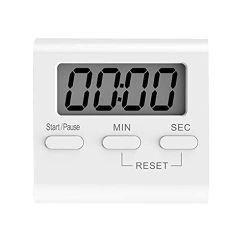 Lorjoyx Blanco LCD Digital de Cocina Que Cocina Temporizador de Cuenta atrás del Reloj hasta Fuerte Alarma magnética cronómetro
