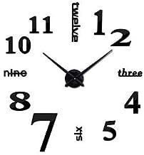 3D Wall Clock - Black - DIY