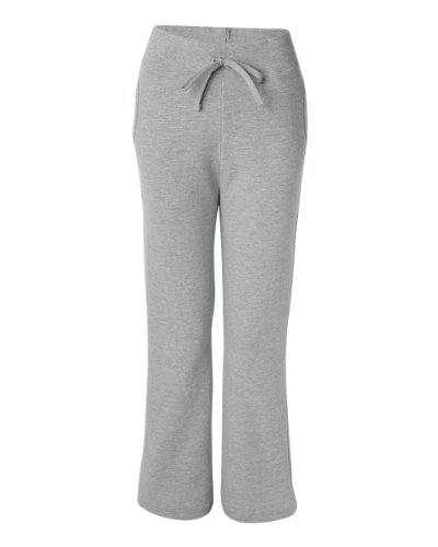 Joe's USA Ladies Soft and Cozy Yoga Style Open Bottom Sweatpants in 8 Colors Sizes S-2XL Athletic Grey