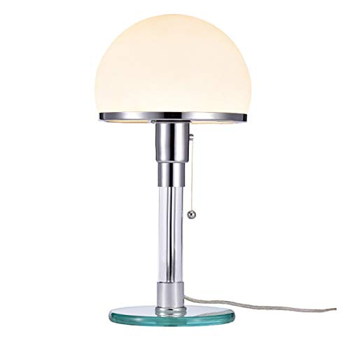 KJHJ Tischlampe Bauhaus Lampe Glanzglas LED Schreibtisch Lichter Schlafzimmer Nachttischlampe Home Deco Stehleuchte 323 (Color : White)