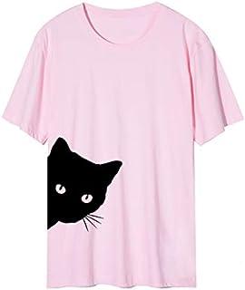 تي شيرت من القطن الأكمام L 粉色