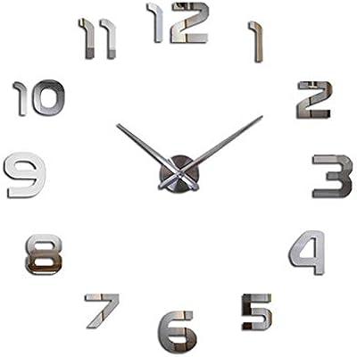 Nazaka   Wall Clock   1 Piece 2019 Modern Design 3D Mirror Large Stickers Wall Clock