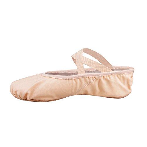 Bezioner Segeltuch-Ballett-Hefter Zufuhr-Tanz-Schuhe für Alle Altersgruppen (Rosa, 40)