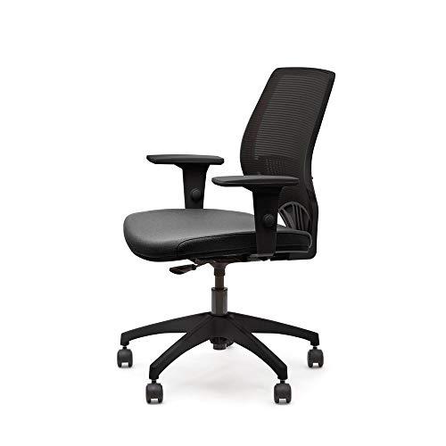 Cadeira Marelli Giratória 213 You Preta Com Estrutura Preta
