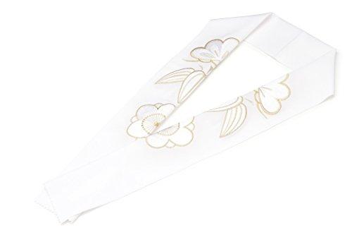 (ソウビエン) 半衿 白 ホワイト 金色 松竹梅 刺繍 正絹 振袖向け 婚礼衣装向け 成人式 結婚式 盛装 フォーマル 日本製 半襟 はんえり 和装小物 女性 レディース