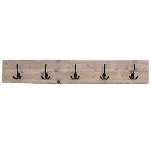 Steigerhoutpassie - Kapstok - Steigerhout - Wandbevesting - Blinde bevestiging - Incl. Handleiding - (L)120 x (H)19 x (D)6,5cm