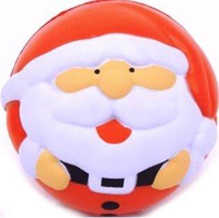 eBuyGB Lot de 1 Balle de Jeu Anti-Stress Motif Père Noël Multicolore