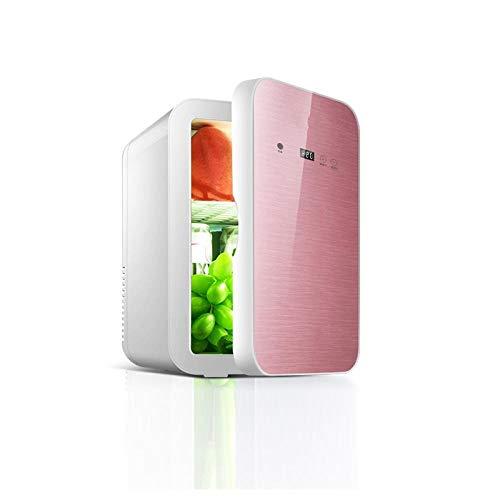 Mini Nevera Eléctrica Nevera Combi 8L Pantalla Digital Coche Refrigerador Mini Refrigerador Cosmético Leche Refrigeración-A
