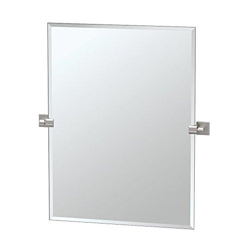 Gatco 4079S Elevate Frameless Rectangle Mirror, Satin Nickel, 31.5'H