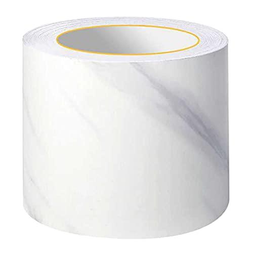 Cenefa autoadhesiva jaspeado papel pintado adhesivo extraíble adhesivo decorativo para escaparates, baño, espejo, cocina o azulejos