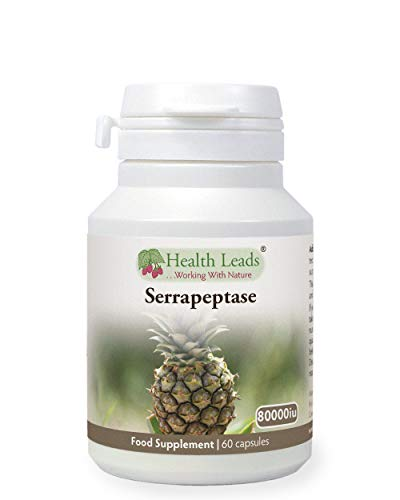 Serrapeptase 80,000iu 60 Capsules, High Strength, Proteolytic Enzyme, Vegan, Serratiopeptidase, Non-GMO, Magnesium Stearate Free & No Nasties, Produced in Wales