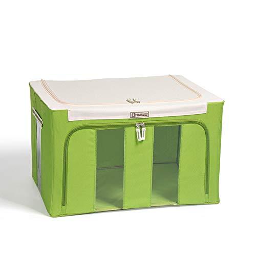 Yuvera Bolsa de almacenamiento de ropa, tela Oxford, marco de acero, caja de almacenamiento para ropa, sábanas, mantas, almohadas, zapateros, contenedor organizador