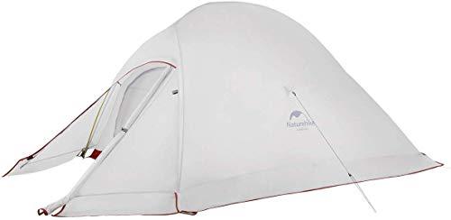 Naturehike Cloud-up 2 Upgrade Ultraleichte Zelte Doppelten 2 Personen Zelt 3-4 Saison für Camping Wandern (20D Grau mit Rock Upgrade)