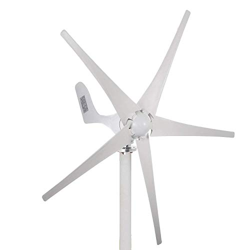 Buoqua S500-12V windgenerator 500 Watt Wind Generator 12v Wind Turbine Generator 5 Blätter Weiß Solar & Wind Power Vertikale Windgenerator mit Controller