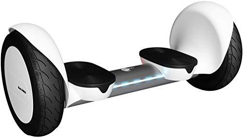 """Wheelheels Balance Scooter, Hoverboard \'Offroad Alpha\' - 10\"""" Luftreifen, Wasserdicht, Aluminiumkarosserie (Weiß)"""