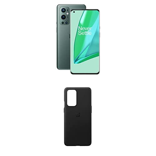 ONEPLUS 9 Pro 5G Smartphone con cámara Hasselblad para móvil - Pine Green 12GB de RAM + 256GB, sin SIM + 9 Pro Sandstone Bumper Black