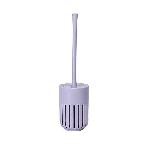 LBMTFFFFFF Cepillo Y Soporte para Inodoro Cepillo para Inodoro Cabezal de Cepillo de Mango Largo Puede Limpiar el Inodoro Herramienta de Limpieza Doméstica de 360 Grados Juego de Cepillos para Inod