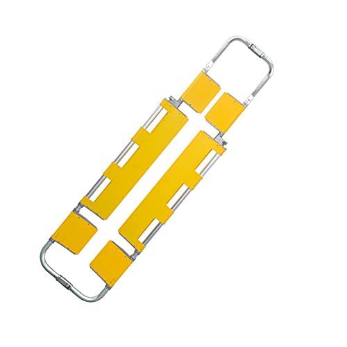QJHP Klappbahre, Schaufeltrage aus Aluminiumlegierung Teilbare DREI-Platten-Schaufeltrage Rettungstransport Krankenpflegebedarf Notfall-Notfall