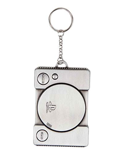 Playstation Schlüsselring Keychain Console retro PS1 Metal Nue offiziell