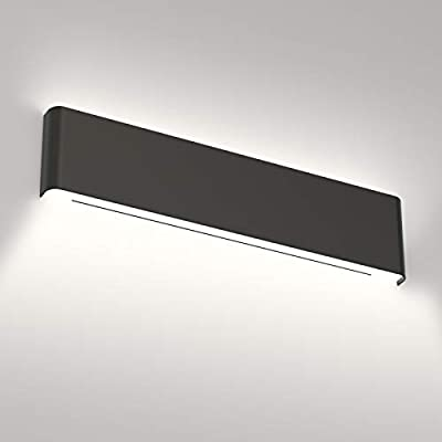 Aipsun 24in/20W Matte Black Modern Vanity Light Up and Down LED Vanity Light for Bathroom Wall Lighting Fixtures (Cool White 5000K)