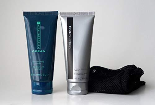 MK Men Hair & Body Wash Geschenkset High Intensity Ocean/True Original Hair and Body Wash inklive Netztasche 176ml MHD 06/2023